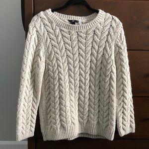 H&M Fisherman Sweater Oatmeal